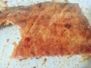 The underside crust of the best pizza for diabetics!