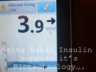 Changing Basal Insulin – I suppose it's Biotechnology….