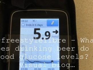 #freestylelibre – What does drinking beer do to blood glucose levels?  A visual blog…