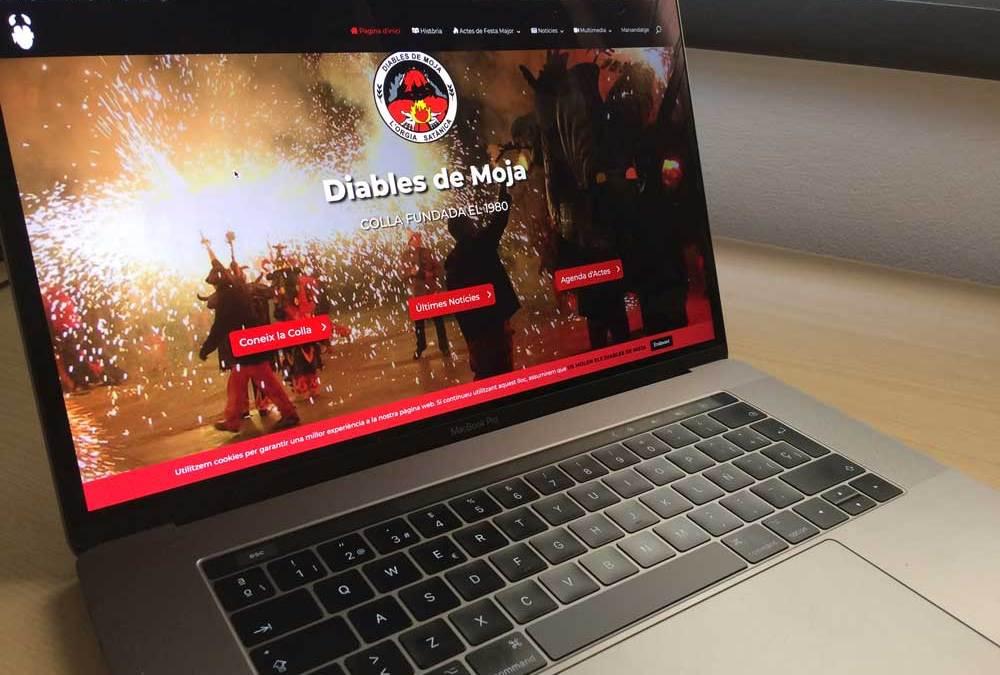 Nou disseny de la web dels diables de Moja vista en un ordinador portàtil