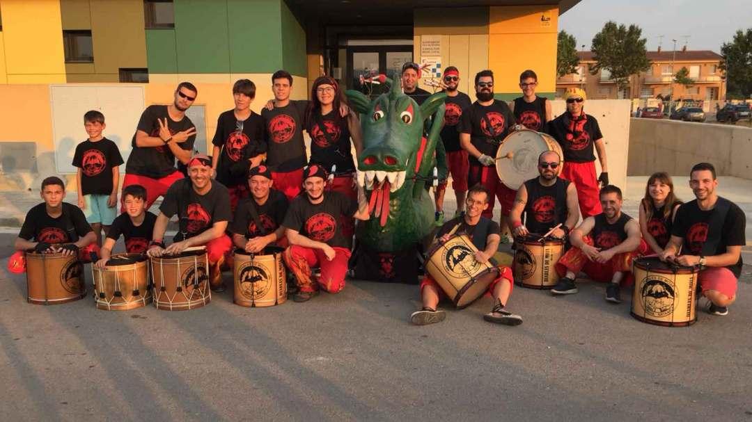 Timbalers i drac de Moja al 30 aniversari del Drac de Pacs