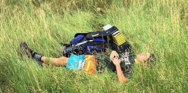 sam in grass