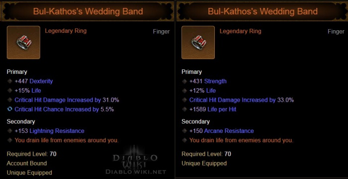 Bul Kathoss Wedding Band Diablo Wiki