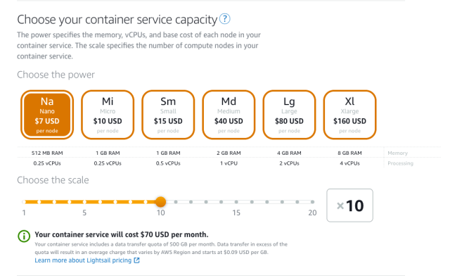 Containers Fee