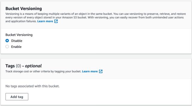 Amazon S3 versioning
