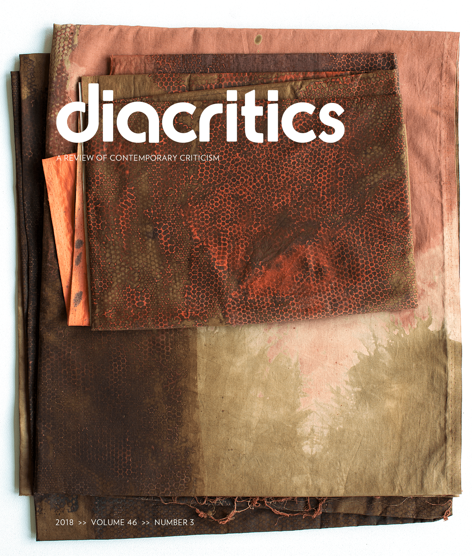 DIACRITICS VOLUME 46 NUMBER 3 2018