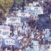 Manifestação paralisou o centro da cidade. Foto: Divulgação/ Agência Telam