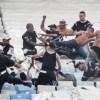 Corintianos entraram em luta corporal com os policiais militares no Maracanã. Foto: Luciano Belford/FramePhoto/Folhapress