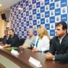 Cinco novos secretários foram apresentados ontem, dentre os quais Márcio da Farmácia. Foto: Divulgação PMD/Thiago Benedetti