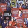 Sindicato realiza ato contra a reforma, na semana passada. Foto: Edu Guimarães/SMABC