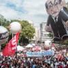 Manifestação contra a reforma tomou as ruas centrais da Capital. Foto: Taba Benedicto/Folhapress