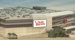 O Shopping Diadema terá 14,2 mil metros quadrados de ABL, dos quais 5 mil m² serão ocupados por um atacarejo Bem Barato. Foto: Divulgação