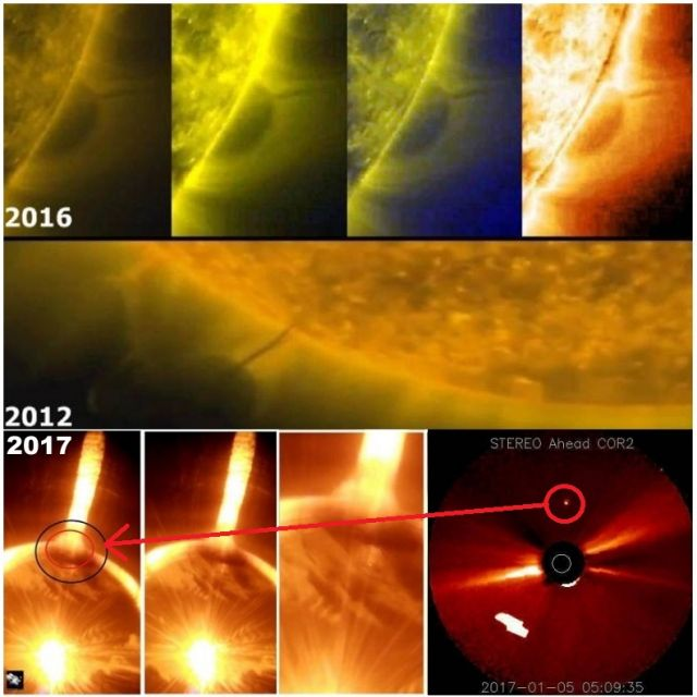 Γιγαντιαίο Σφαιρικό Αντικείμενο Βγαίνει από τον Ήλιο