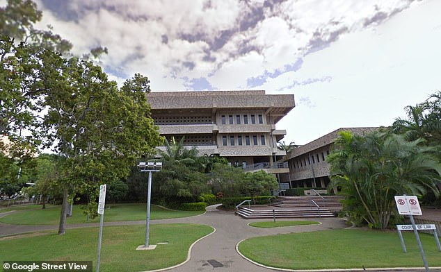 Judge Lynham sentenced the father to 27 years jail, causing one of the daughters to let out a cry from the public gallery (Townsville District Court pictured)