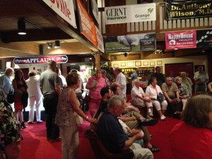 'Gypsy' audience gathers in lobby for pre-show entertainment.