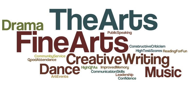 Research shows that children who participate in fine arts classes have more success in school and benefit long-term. (Graphic by D. Krahulek)