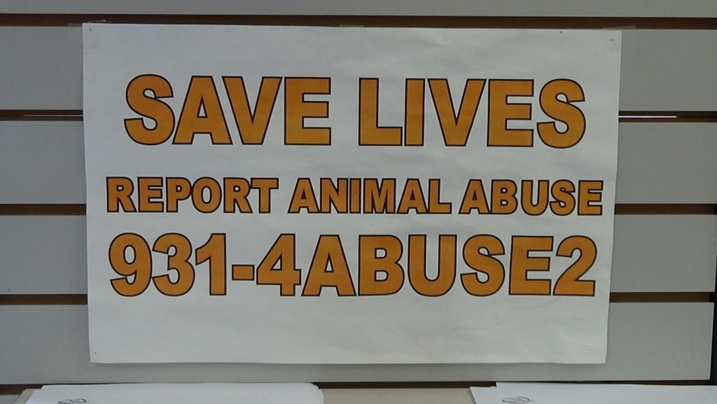 AT4P provides an anonymous hotline to report suspected animal abuse. (Photo by Diahan Krahulek)