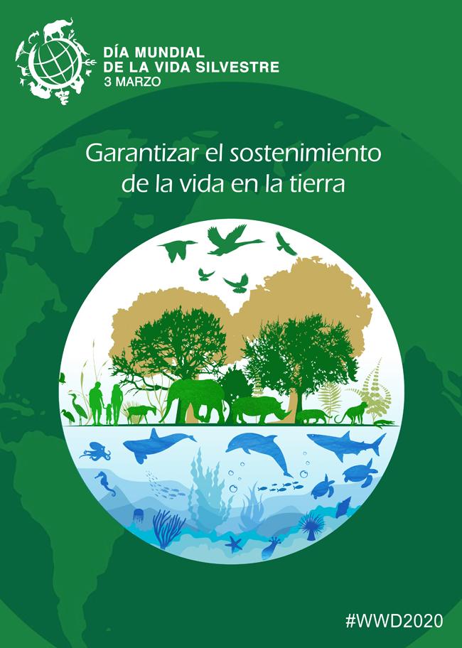 Cartel para el Día Mundial de la Vida Silvestre 2020