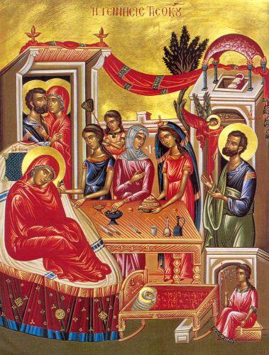 Αποτέλεσμα εικόνας για γεννηση θεοτοκου παναγιας