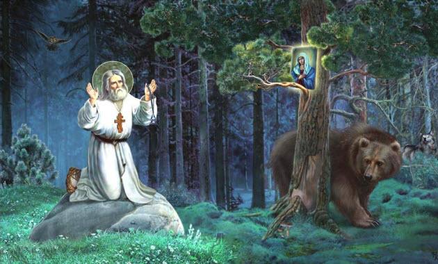 Αποτέλεσμα εικόνας για Φωτο: απο το Κελάκι του Αγίου Σεραφείμ του Σάρωφ.
