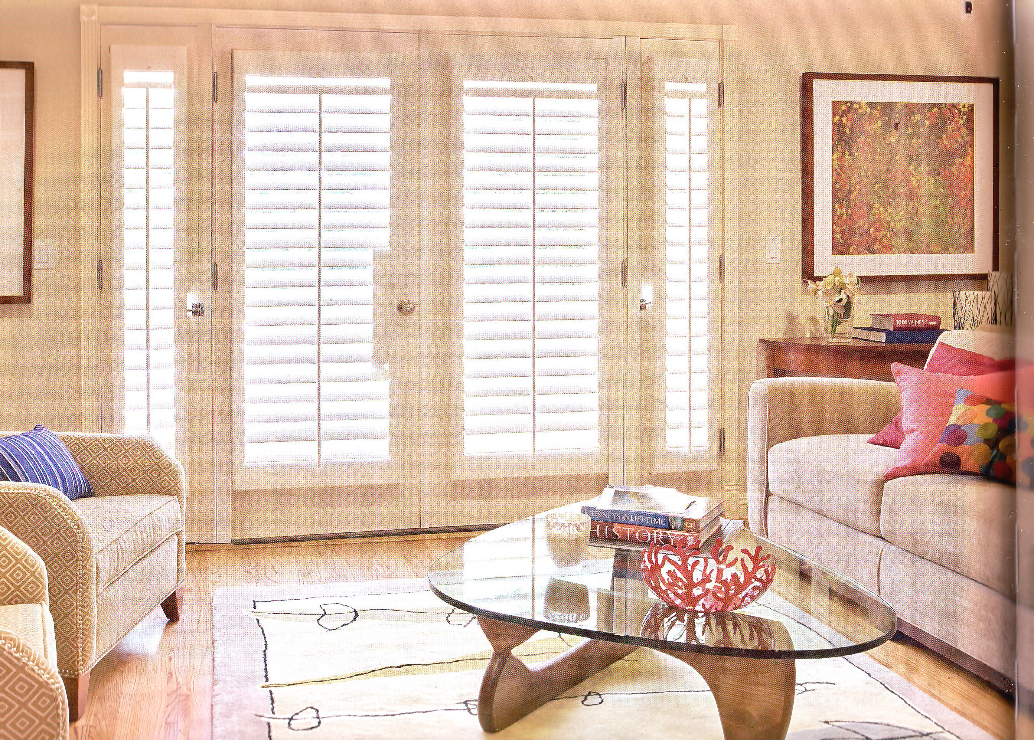 Plantation Shutters On French Doors Dail A Blind