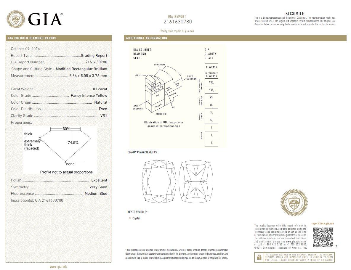 Certificat Diamant Certificat Gemmologique