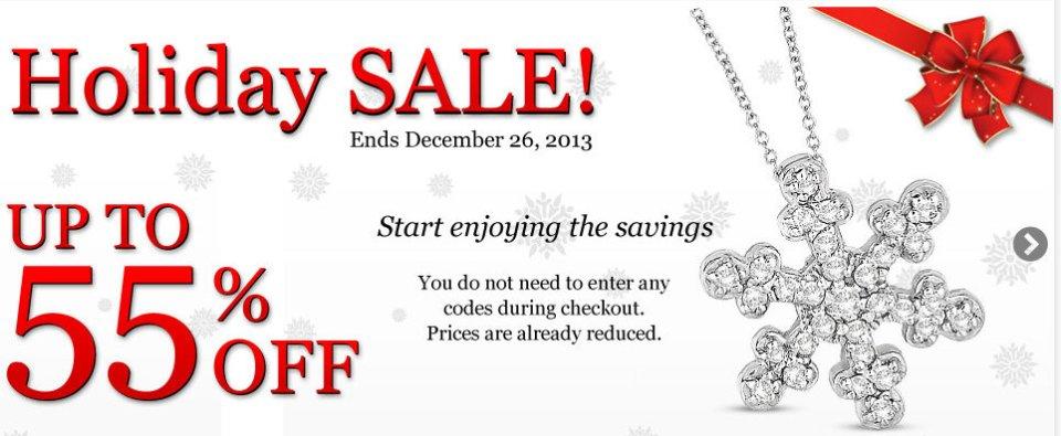 Diamond Jewelry Holiday Sale