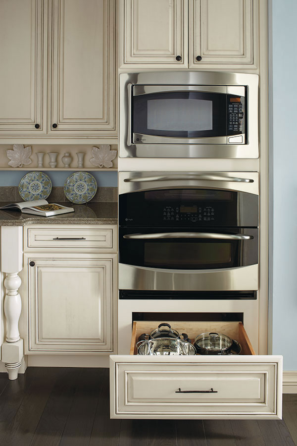 double oven cabinet with deep drawer