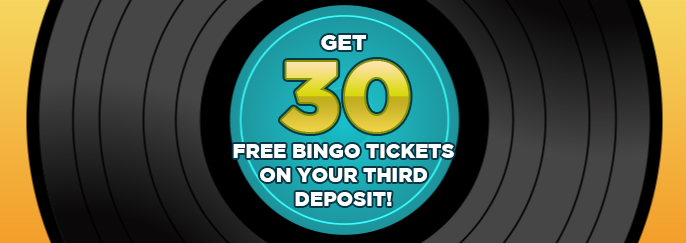 Sing Bingo: Get 30 free bingo tickets on your first deposit of £10 or more!