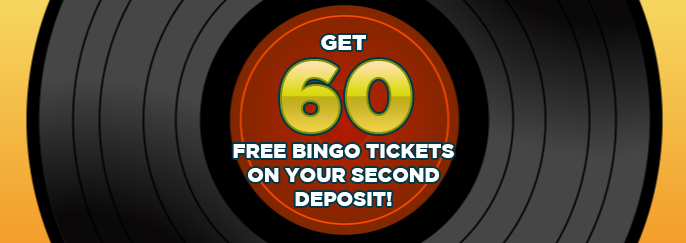 Sing Bingo: Get 60 free bingo tickets on your first deposit of £10 or more!
