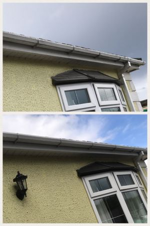 Fascia and Soffit Clean Before and After