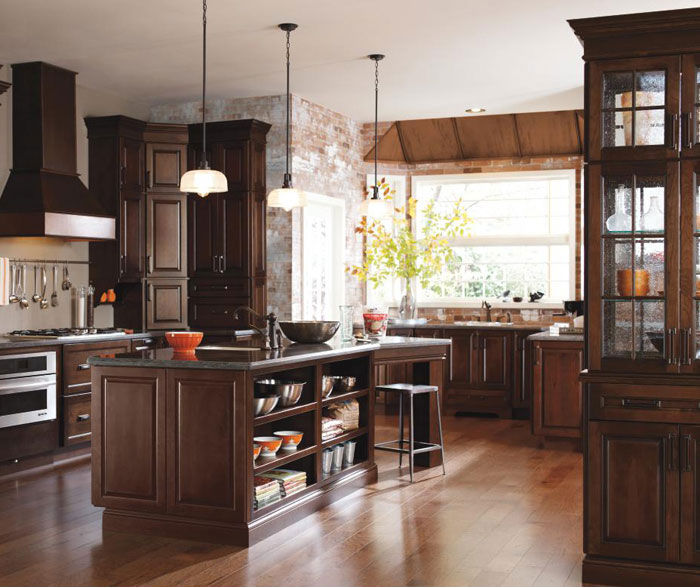 Dark Cherry Kitchen Cabinets Diamond Cabinetry