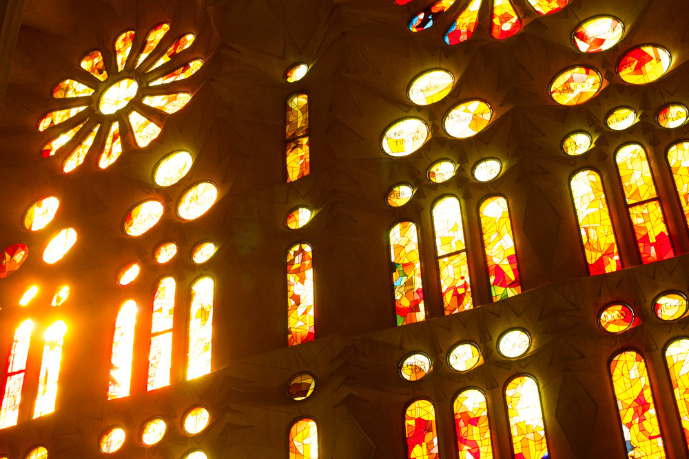 Sagrada Familia interior stained glass