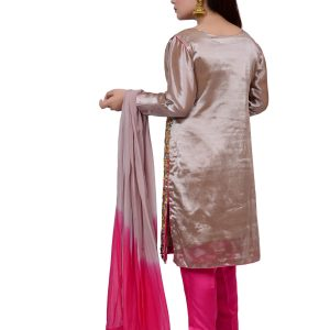 Colorful Shalwar Kameez with Pink Pants