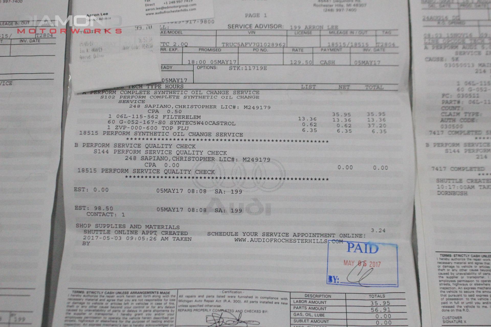 Audi Tt 2 0t Quattro Stock For Sale Near