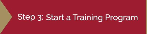 Step 3: Start a Training Program Graphic | Diamond Pet Foods