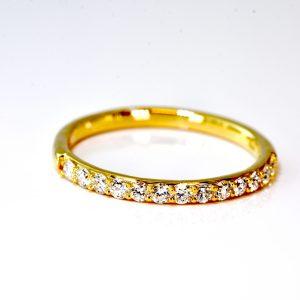 14 kt. Yellow Gold Diamond Band