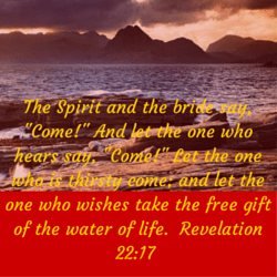 The Spirit and the bride say, -Come!- (2)