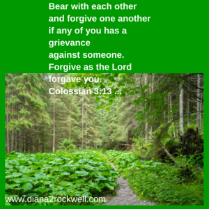 Bear with each other and forgive one
