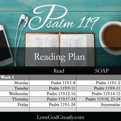 Psalm 119 W1D1