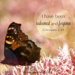 I have been redeemed and forgiven.