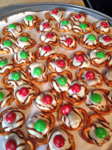 gluten free hugs, m&ms pretzels