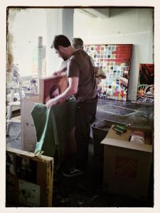 moving paintings from Andrew Brandmeyer studio