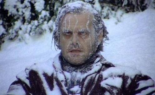 """Jack Nicholson congelado en """"El resplandor"""""""