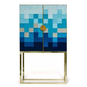 Mueble Bar Wyatt Azul