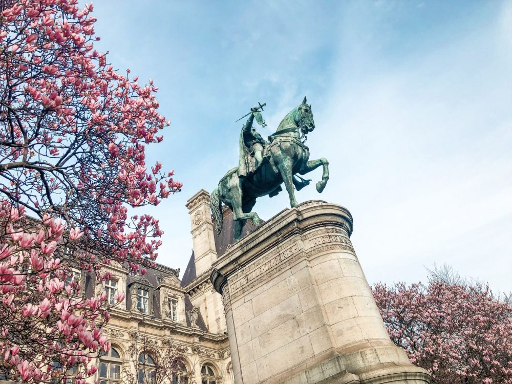 Cherry blossom Paris Hotel de Ville
