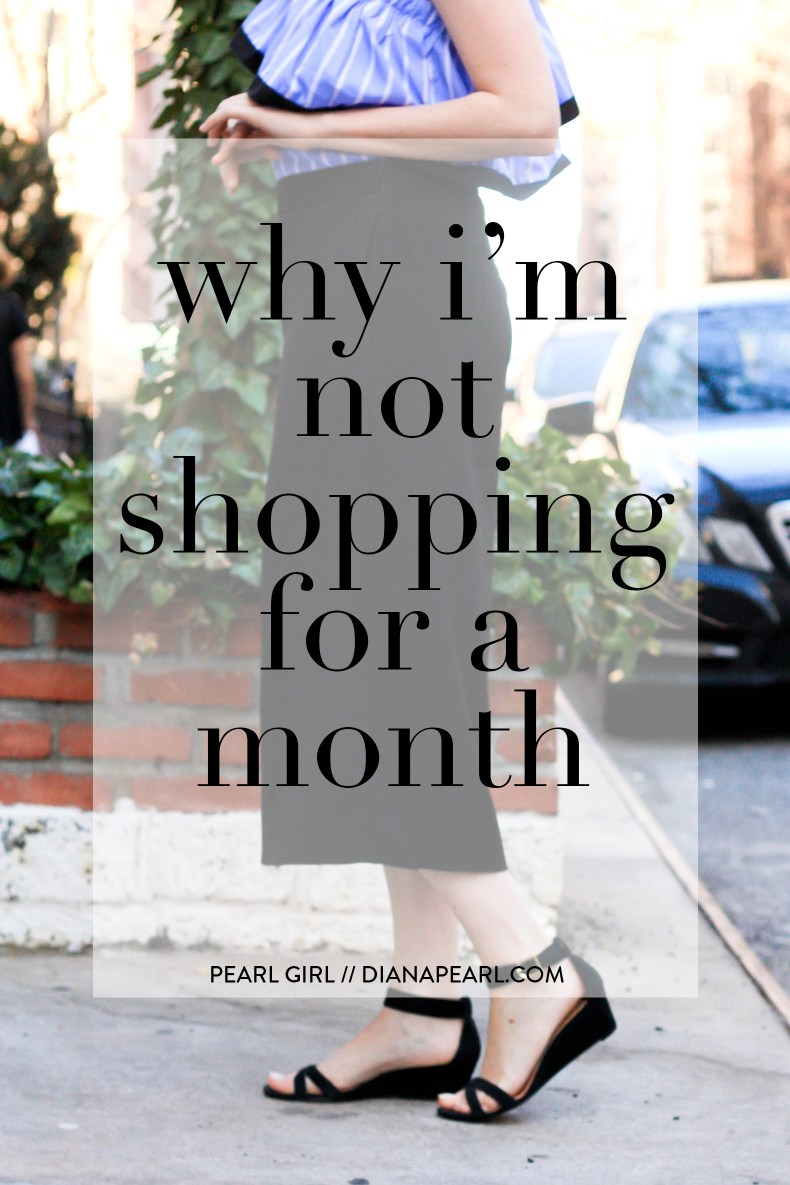 Why I'm Not Shopping for a Month, Month-Long Spending Freeze