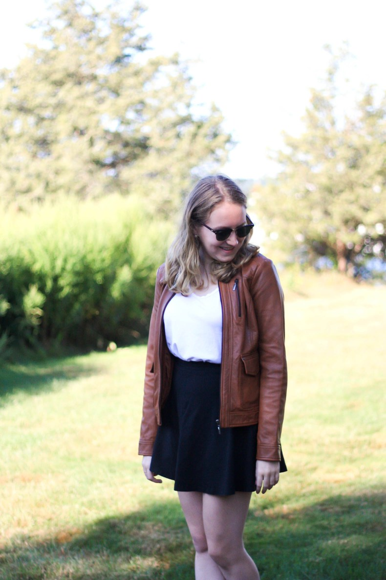 Artemis Design Co. Kilim Loafers, Bernardo Leather Jacket and What I'll Miss About Summer // Pearl Girl