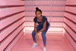 Posing at the Museum of Ice Cream