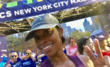Diane at the NYC Marathon finish line